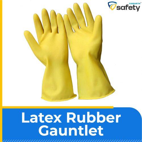 Latex Rubber Gauntlet